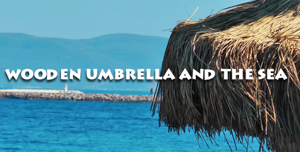 Wooden Umbrella And The Sea