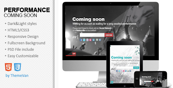 ThemeForest Performance Responsive Under Construction page 3277146