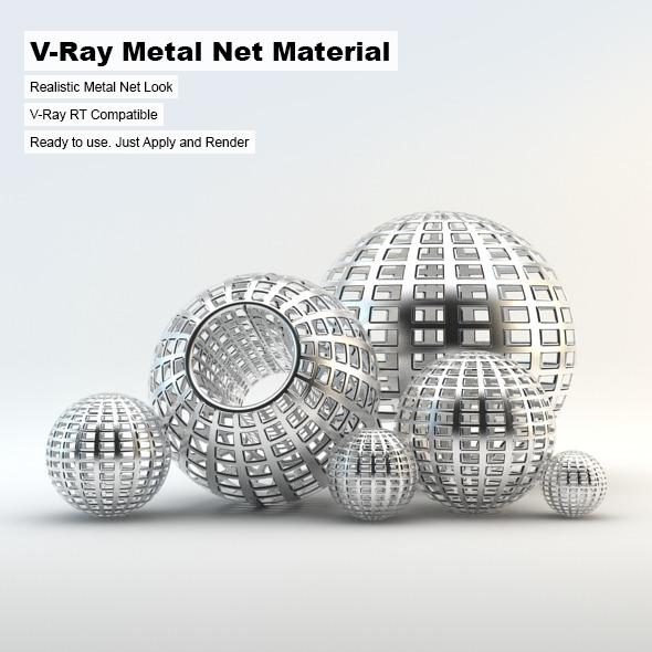 3DOcean V-Ray Metal Net Material 3293131
