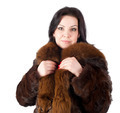 Portrait of a beautiful woman wearing winter coat - PhotoDune Item for Sale