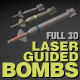 3 Laser Guided Bombs pack - 3ds max model - 3DOcean Item for Sale
