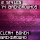 Clean Bokeh Backgrounds - GraphicRiver Item for Sale
