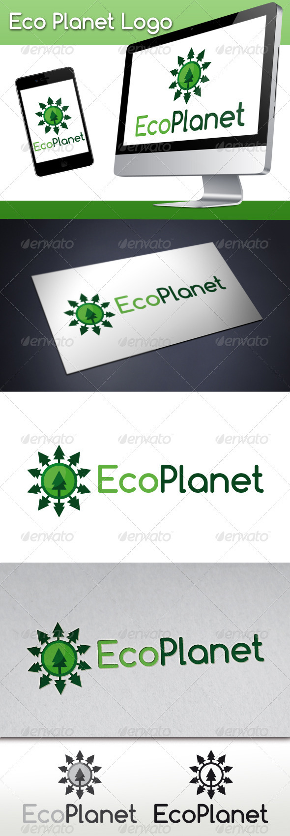 GraphicRiver Eco Planet Logo 3293172