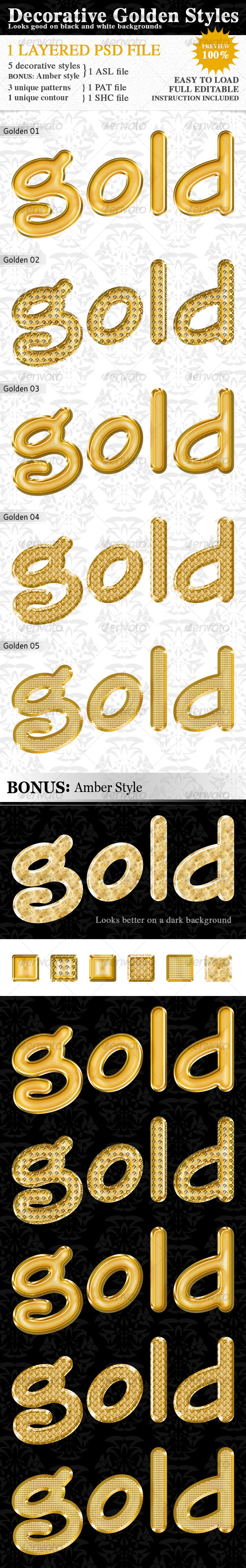 GraphicRiver Decorative Golden Styles 116266