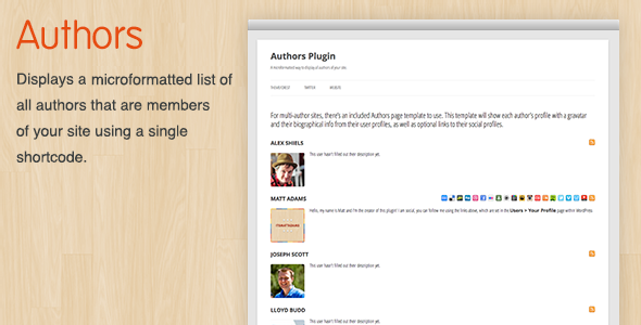Authors WordPress Plugin - CodeCanyon Item for Sale