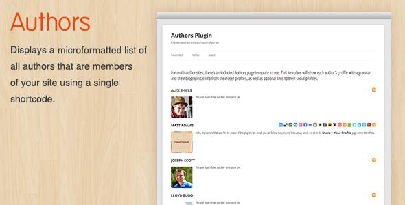 CodeCanyon Authors WordPress Plugin 3291897