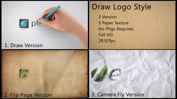 VideoHive Draw Logo Style 3294695