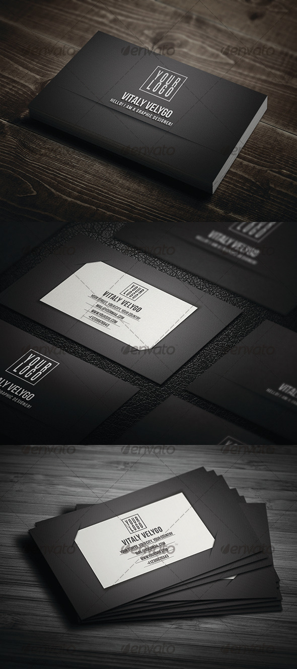 GraphicRiver Black Tone Business Card 3294958