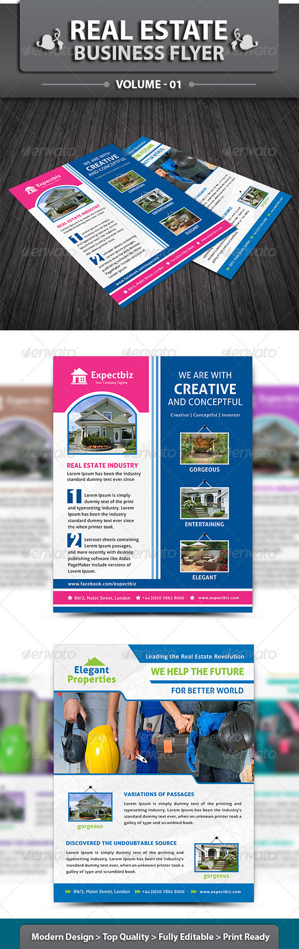 Real Estate Business Flyer | Volume 1 - Corporate Flyers