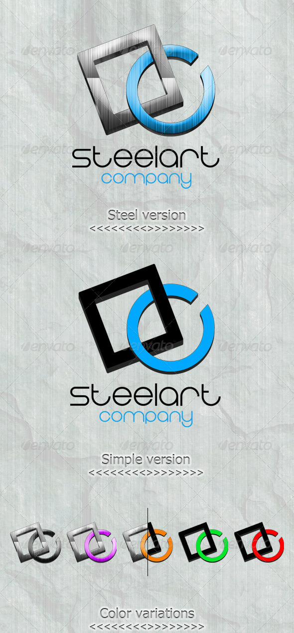 GraphicRiver Steel Art Logo Template 3230004