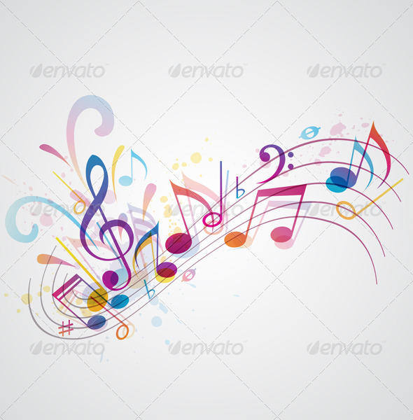 GraphicRiver Music Background 3295327
