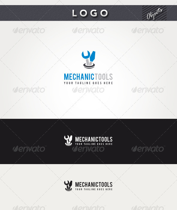 GraphicRiver Mechanic Tools Logo 3295342