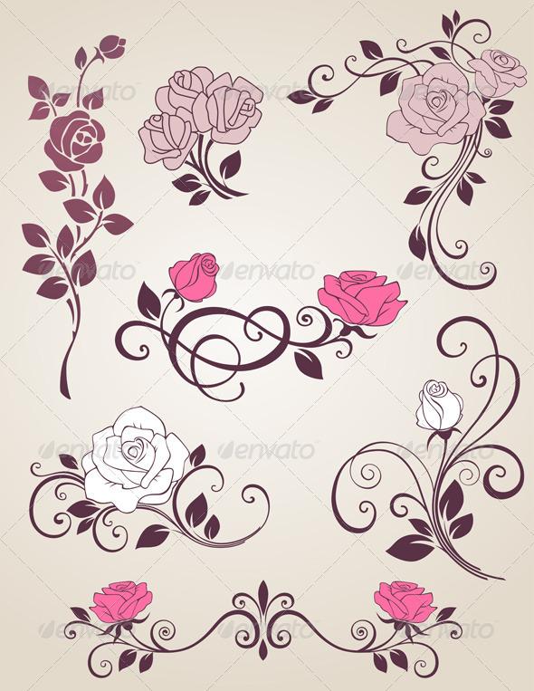 GraphicRiver Decorative Roses 3295414