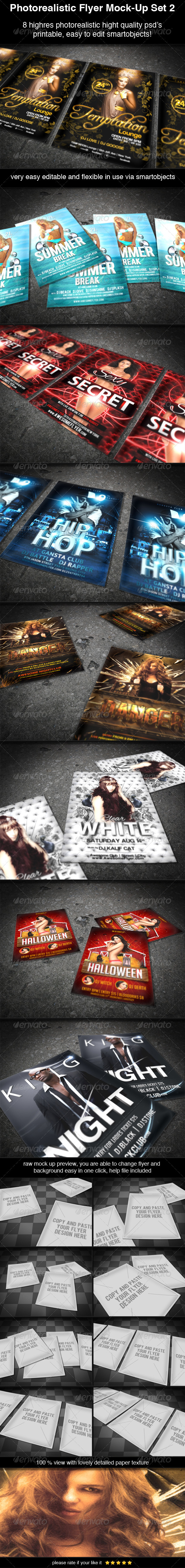 Photorealistic Flyer Mock-Up Set 2 - Flyers Print