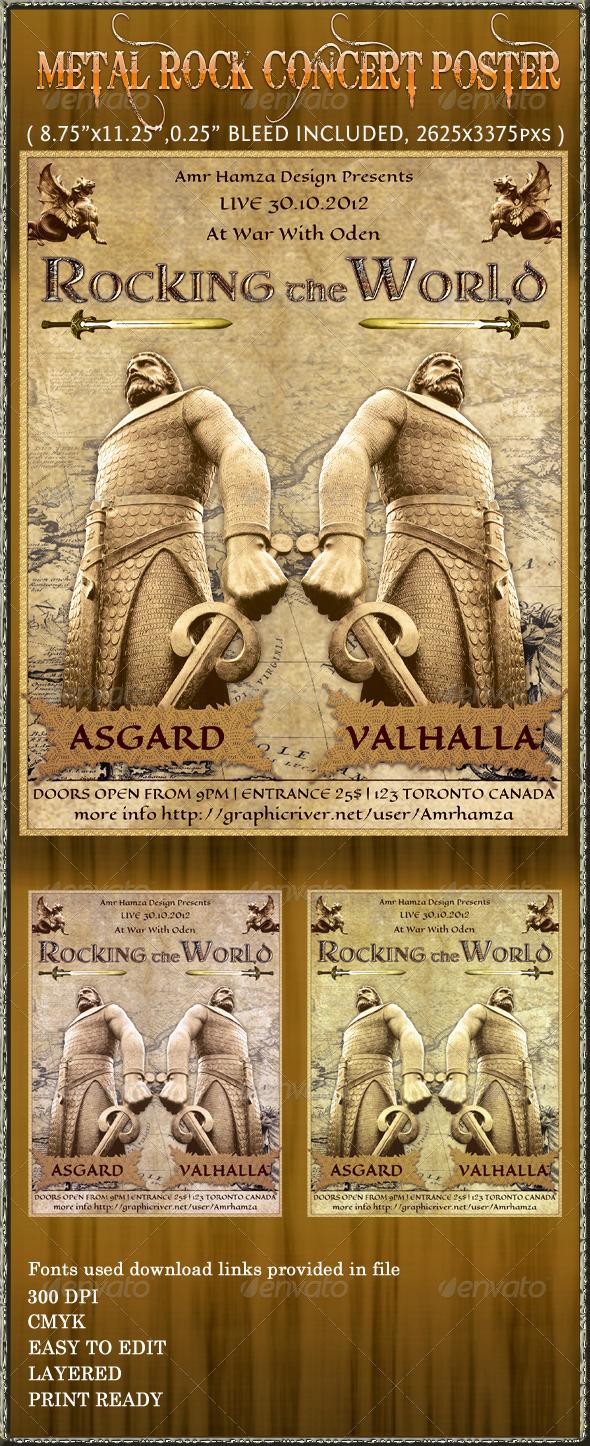 GraphicRiver Metal Rock Concert Poster Flyer 3241667