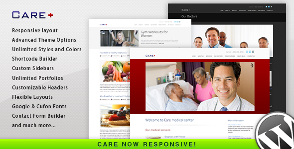ThemeForest Care Medical and Health Blogging Wordpress Theme 868243