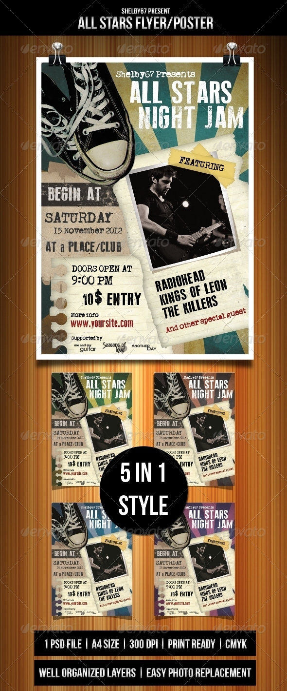 GraphicRiver All Stars Flyer Template 3296013