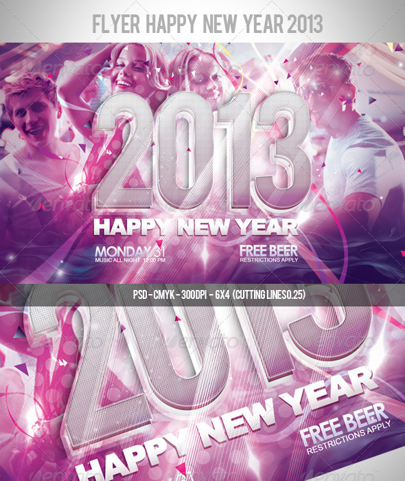 GraphicRiver Flyer Happy New Year 2013 3287077