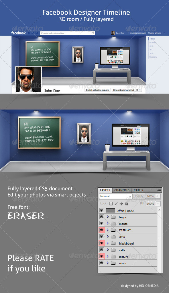 GraphicRiver FB Designer Room Timeline 3296191