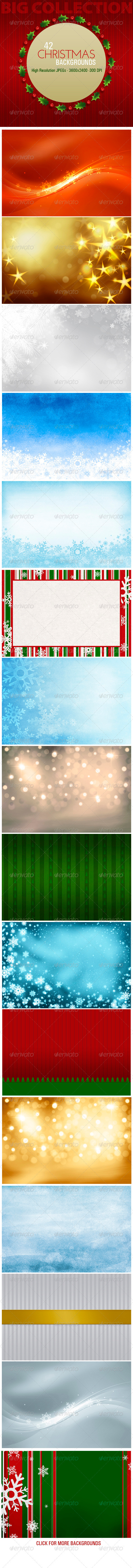 42 Christmas Backgrounds - Backgrounds Graphics