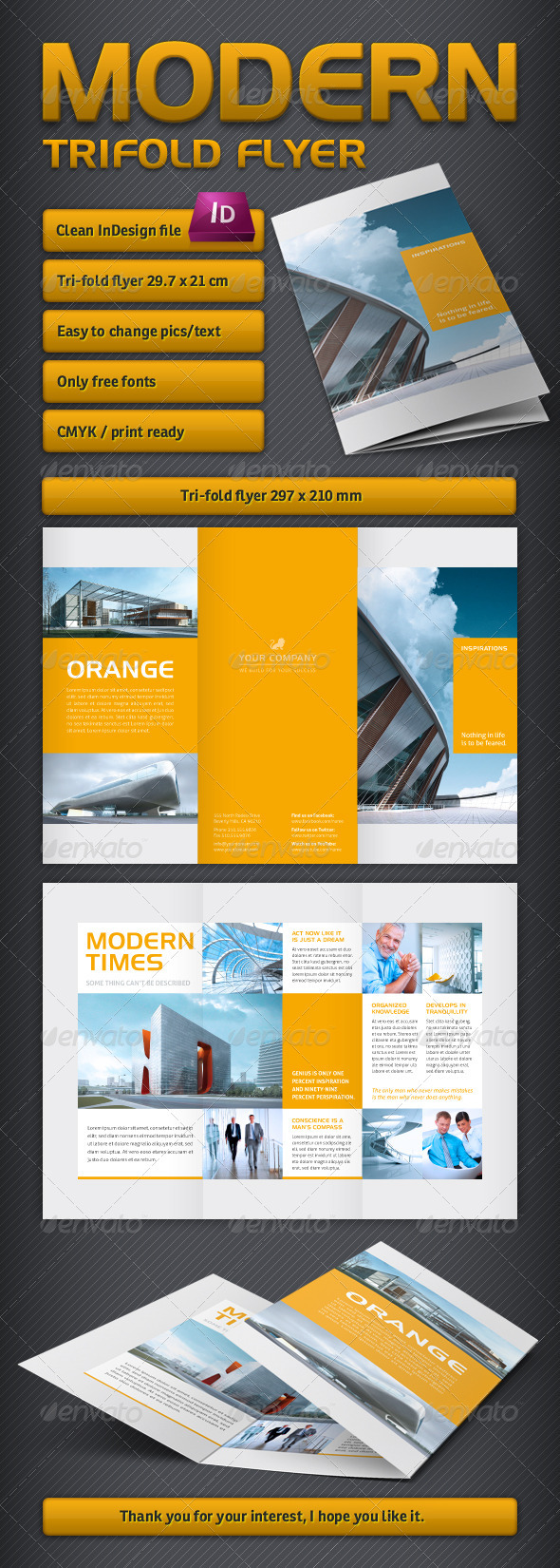GraphicRiver Modern Trifold Brochure 3296316