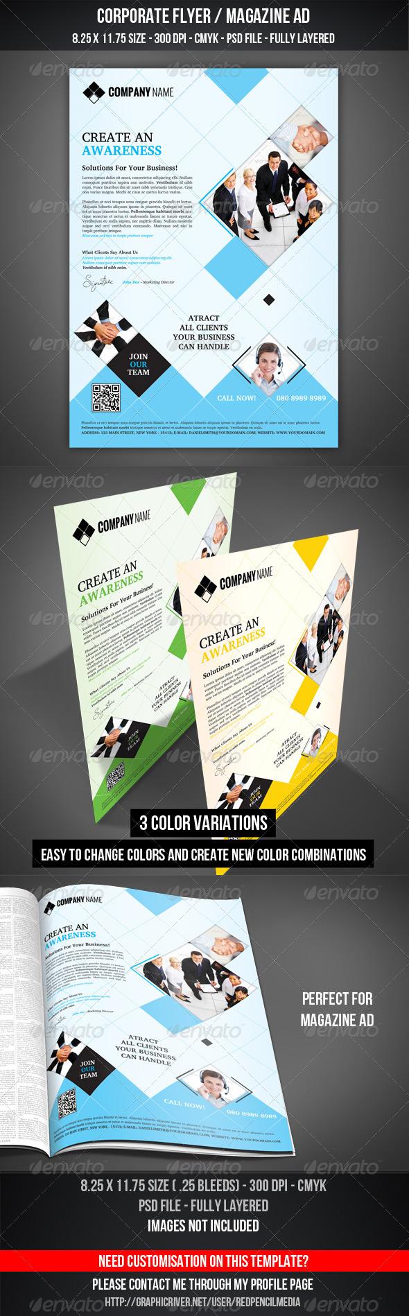 GraphicRiver Corporate Flyer Magazine AD 3287993