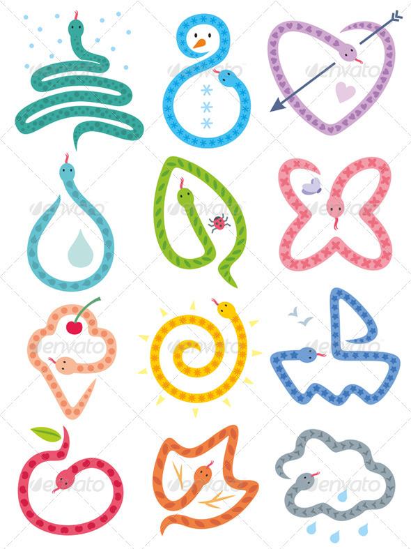 GraphicRiver Snakes Calendar 3296362