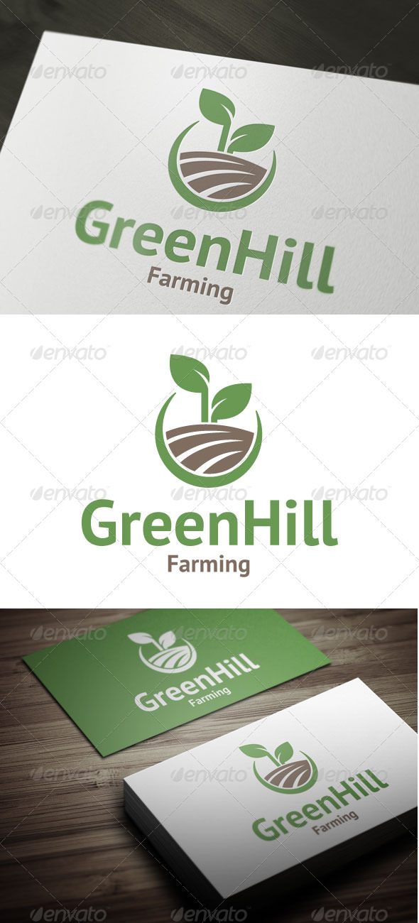 Green Hill - Nature Logo Templates