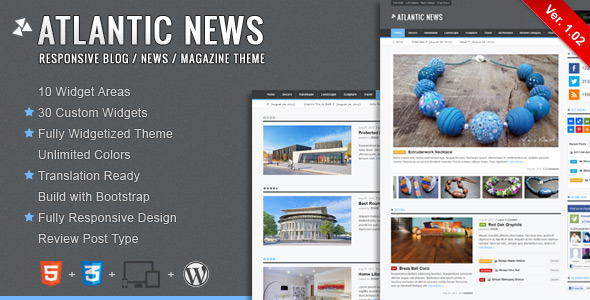 ThemeForest Atlantic News Responsive WordPress Magazine Blog 2905407
