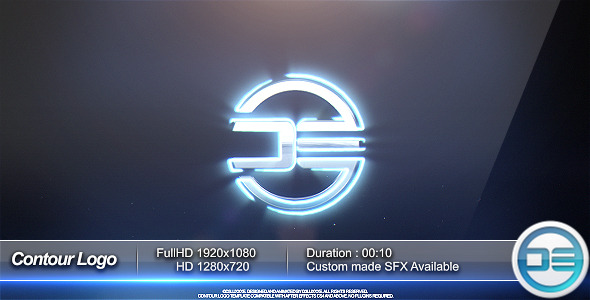 VideoHive Contour Logo Social Media Network 3290890