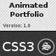 Responsive Animated Portfolio - Pure CSS - WorldWideScripts.net vare til salg