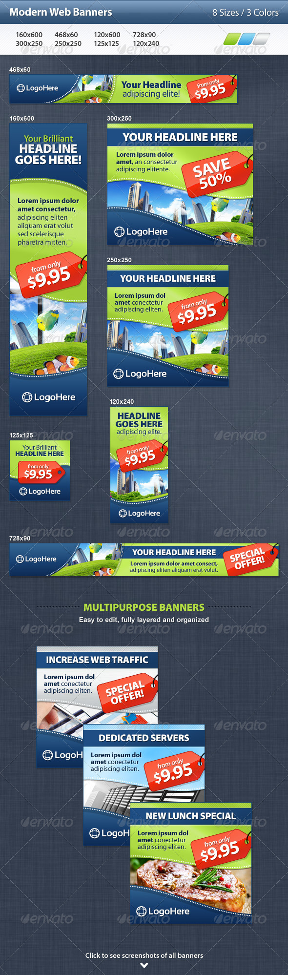Modern Web Banners - Banners & Ads Web Elements