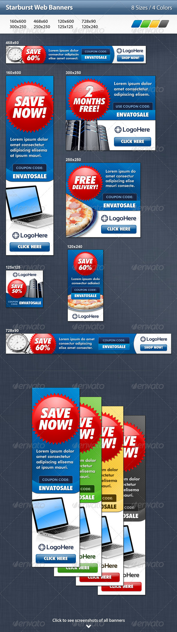 GraphicRiver Starburst Web Banners 3297277