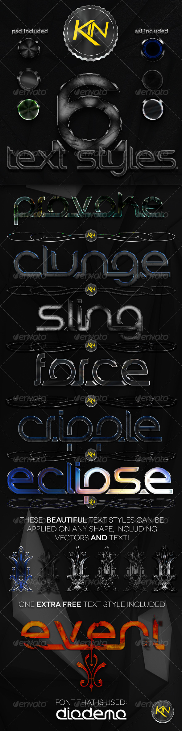 GraphicRiver 7 Amazing Text Styles 3218190
