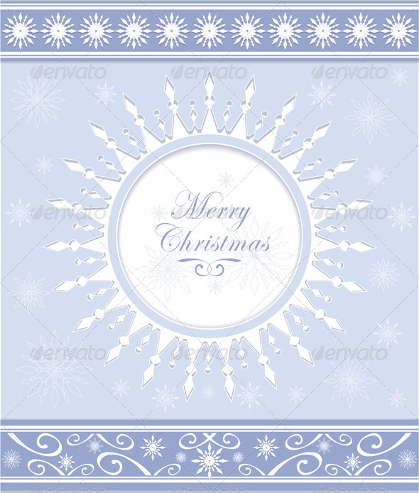 Winter Background or Snowflakes Frame