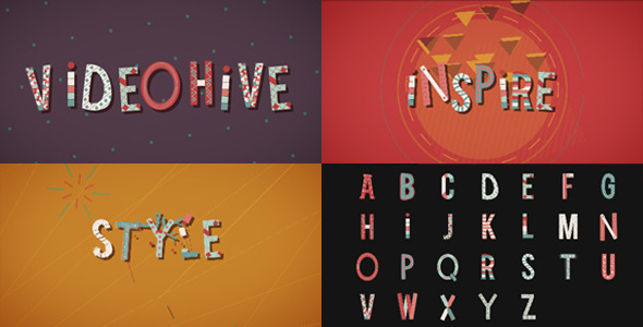 VideoHive Wonder Letters 3297620
