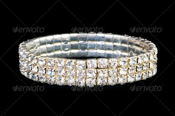 Jewellery ring isolated on the black background - Stock Photo - Images