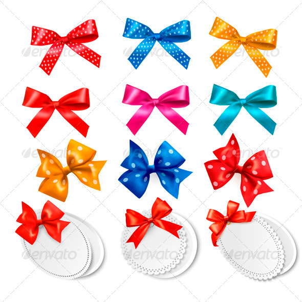 GraphicRiver Big Collection of Colorful Gift Bows and Labels 3297913