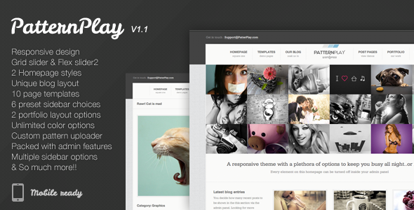 ThemeForest PatternPlay A Responsive clean & unique theme 3025451