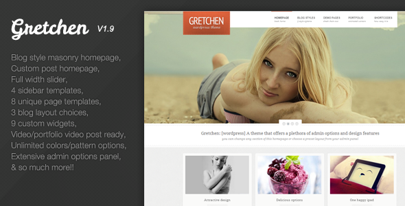 ThemeForest Gretchen Flexible Wordpress Theme 2564485