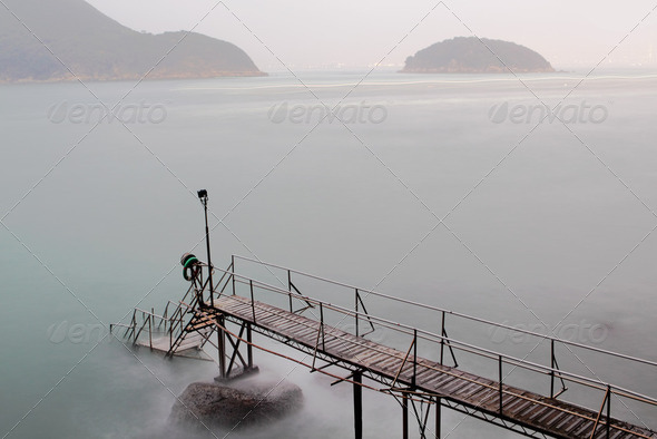hong kong Swimming Shed in sea - Stock Photo - Images