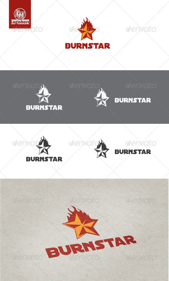 Burn Star Logo Template