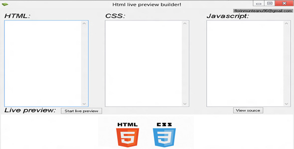 Html live preview builder