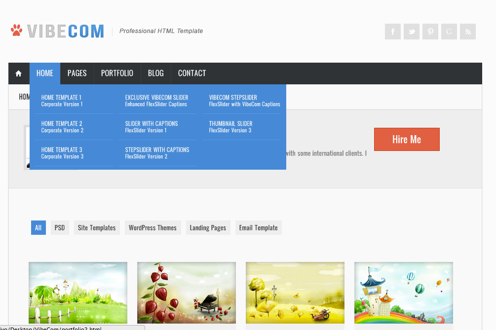 VibeCom Multipurpose HTML Template