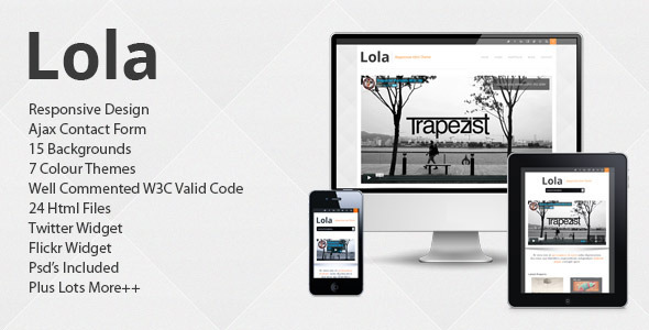ThemeForest Lola Responsive Business Html Theme 3223355