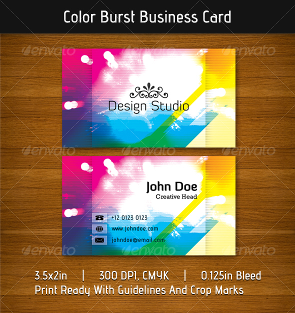 Color Burst Business Card - Creative Business Cards