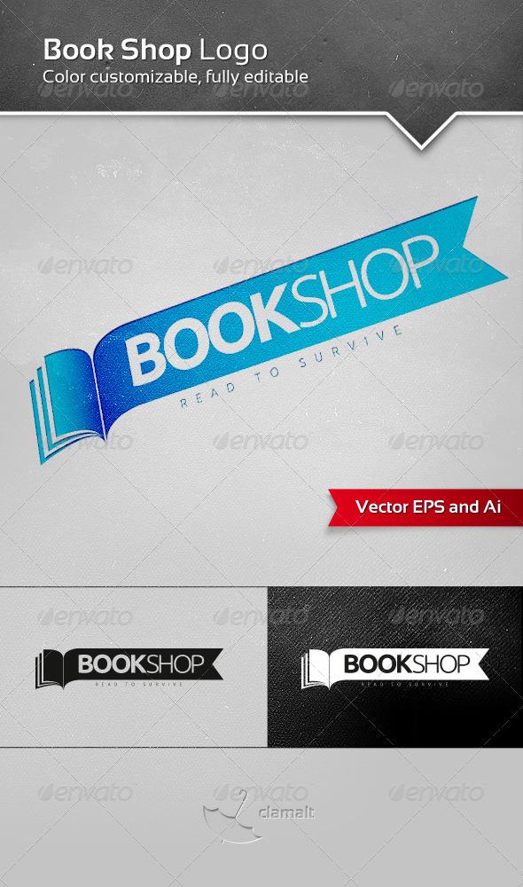 GraphicRiver Book Shop Logo 3299655