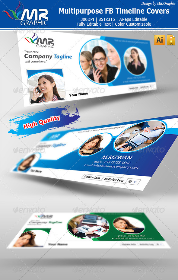 GraphicRiver Multipurpose FB Timeline Covers 3299750