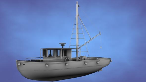 3DOcean Fishing Trawler Untextured 116561