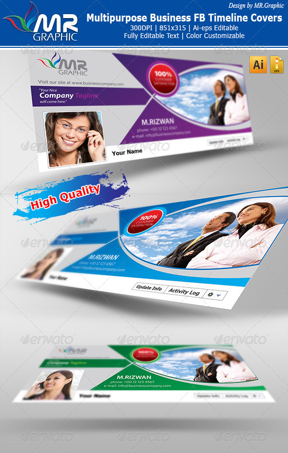 GraphicRiver Multipurpose Business FB Timeline Covers 3299800